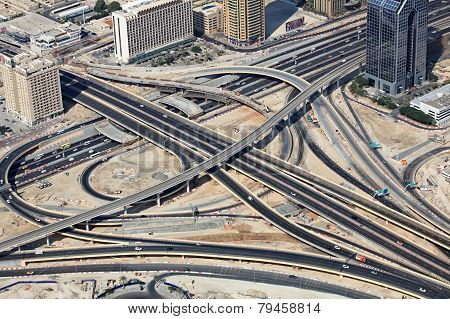 Transport interchange in Dubai.