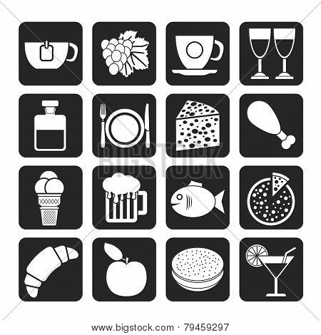 Silhouette Food, Drink and beverage icons