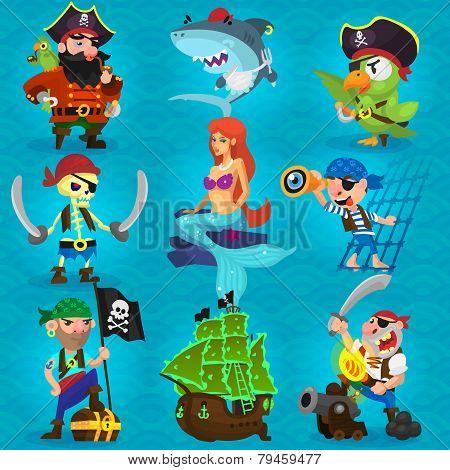 Set Of Fearless Pirates