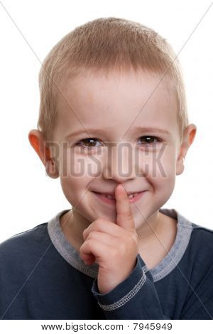 Finger Silence Sign