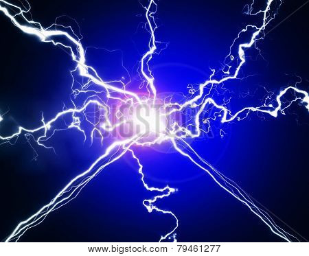 Pure energy and electricity with bright light symbolizing power
