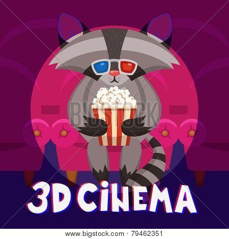 Raccoon Cinema Poster