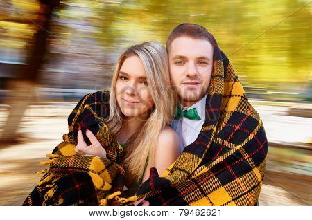 Young couple autumn