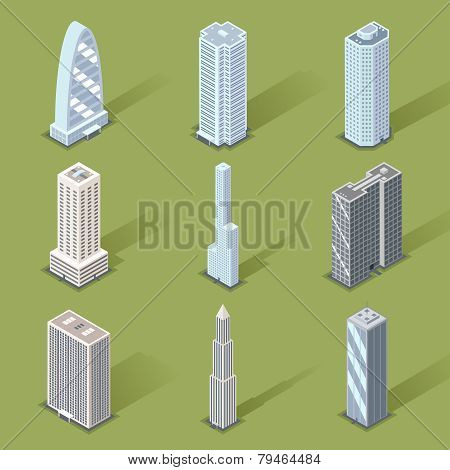Vector 3D Skyscraper Graphic Designs