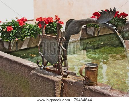 Fountain, Castelrotto (kastelruth), Italy
