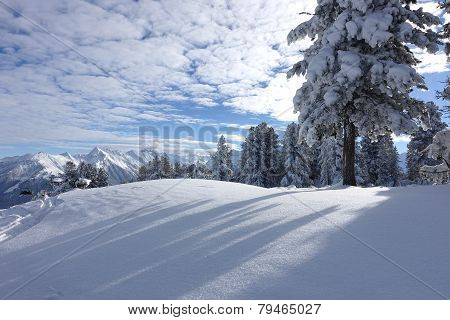 Winter landscape in the Tyrolean Alps