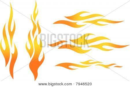 Vector llamas