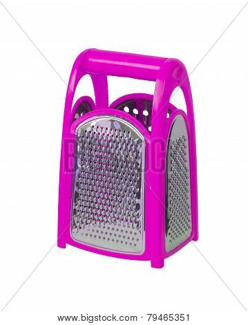 Pink Plastic Grater