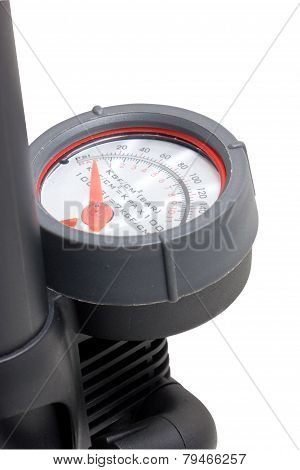 Close Up Of Inflation Pressure Gauge.