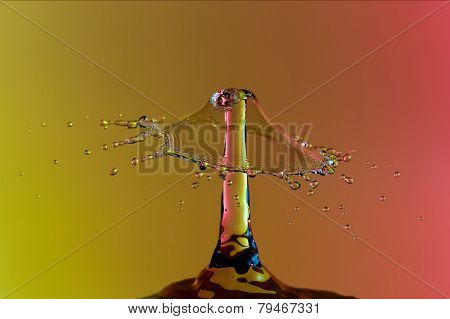 Extreme close-up of water splash with abstract background