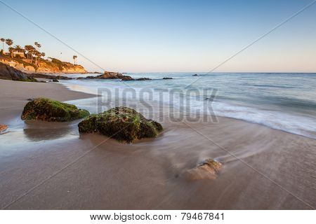 beautiful beach in Laguna Beach, California