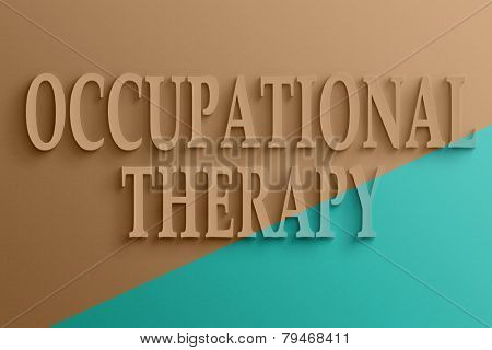 3D text on the wall, occupational therapy