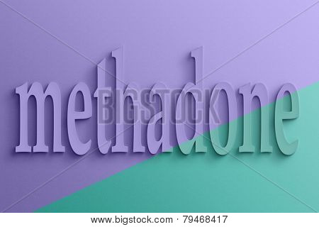 3D text with shadow and reflection, methadone.