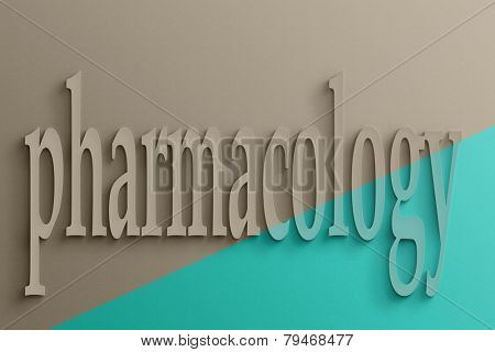 3D text on the wall, pharmacology