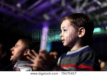Father With Son At A Concert