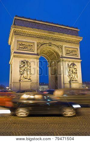 Triumph Arc At Paris, France