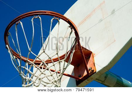 Basketball hoop in a park