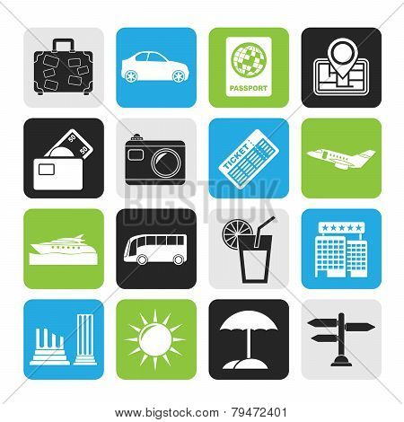 Silhouette Travel and vacation icons