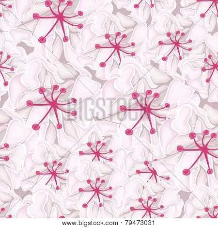 seamless background with white flowers