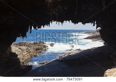 Admirals Arch On Kangaroo Island, South Australia