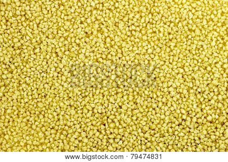 Macro Background Texture Of Raw Uncooked Couscous