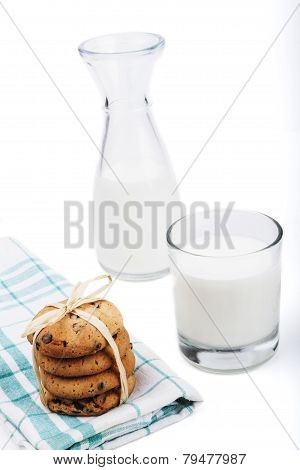 Milk Bootle And Cookies