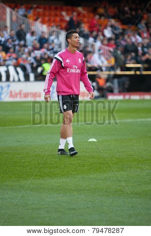 VALENCIA, SPAIN - JANUARY 4: Ronaldo during Spanish League match between Valencia CF and Real Madrid at Mestalla Stadium on January 4, 2015 in Valencia, Spain