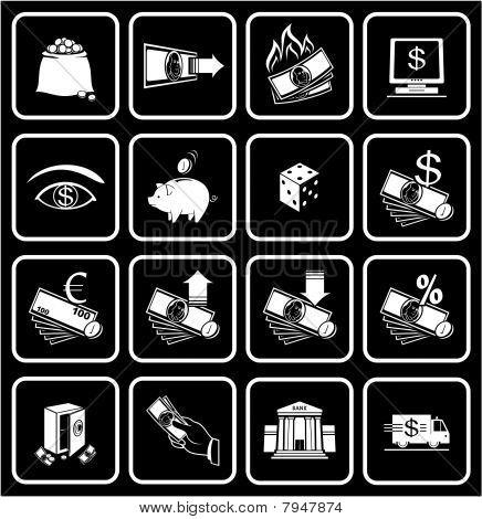 Finanzen, Bankwesen Symbole