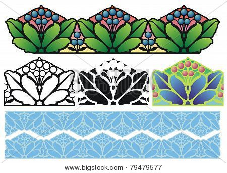 Arts and Crafts style border