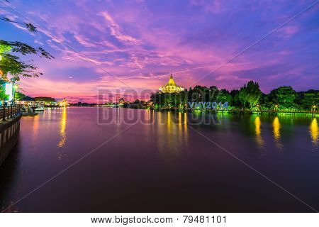 Sunset In Kuching, Borneo
