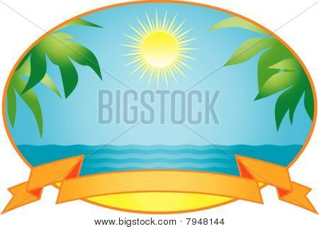 Tropical background. Vector Illustration