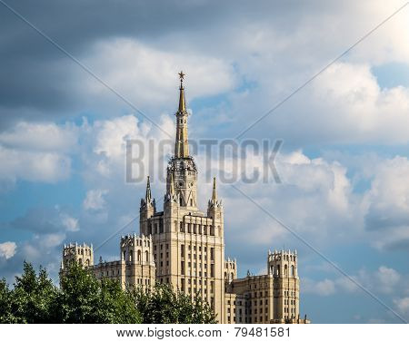 One Of Moscow's Famous Highrises.