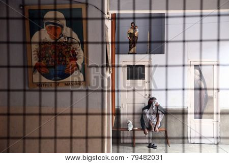 KOLKATA, INDIA - JANUARY 23: Shishu Bhavan, one of the houses established by Mother Teresa and run by the Missionaries of Charity in Kolkata, India on January 23, 2009.