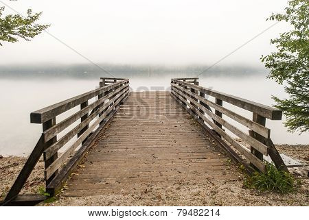 Pier on Bohinj lake, Slovenia