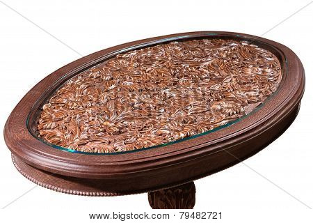 carved table of handwork