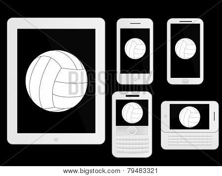 Mobile Devices With Ball White