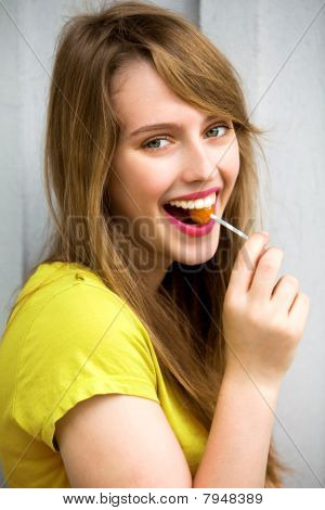 Cute Girl with Lollipop