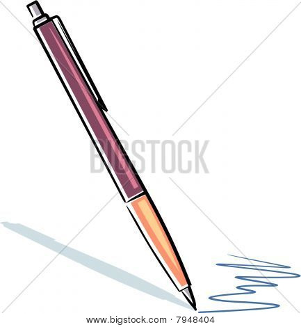Writing pen (Vector)