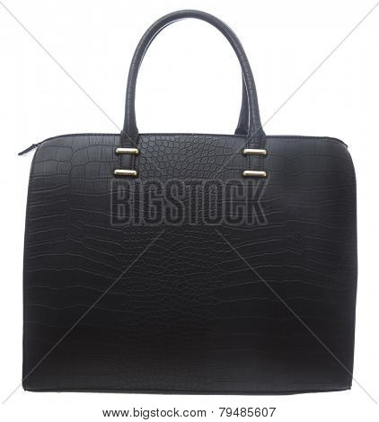 Black Business Purse isolated on white background