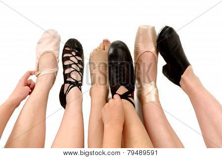 Styles Of Dance Shoes on Feet
