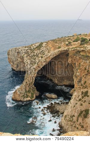 Blue Grotto View in Malta island, touristic destination in Malta