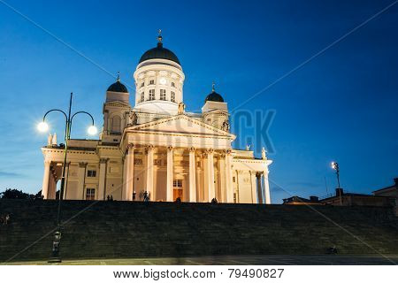Helsinki Cathedral, Helsinki, Finland. Summer Evening