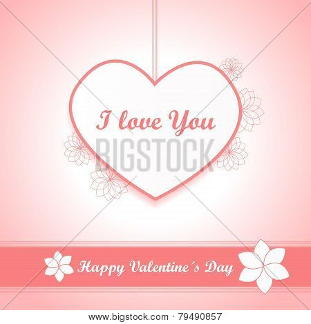Valentines Background - Heart And Love - Pink Vector