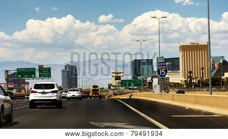 Crowded Highway To Las Vegas