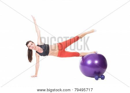 Body Building On Fitness Ball