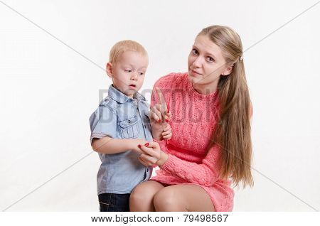 Mom Scolds Three Year Old Boy