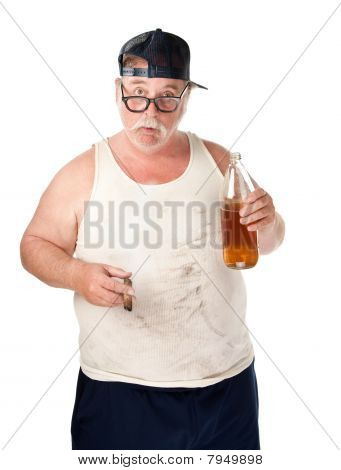 Fat Man With Beer