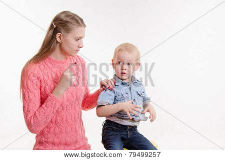 Mom Unhappy Child's Behavior