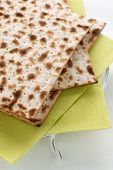 pic of matzah  - Matzah crackers traditionally eaten during the Passover holiday - JPG