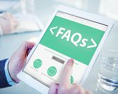 picture of faq  - Digital Online FAQs Community Office Working Concept - JPG